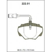 Pastilha freio traseira asumi land rover defender 93 2.5 / 3.5 d 93/94 discovery 2.0 / 2.5 / 3.5 / 3.9 / tdi 89/98