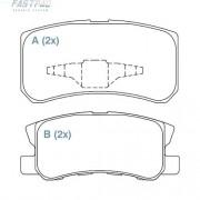 Pastilha freio traseira fastpad mitsubishi pajero full / gls 2.8 / 3.5 / 3.8 98/06 grandis 2.4 16v 03 > outlander 2.4 / 3.0 08 >