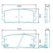 Pastilha freio traseira jurid gm captiva 2.4 09> captiva 3.6 v6 4x2,4x4 09>