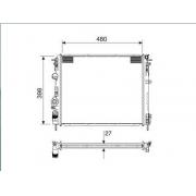 Radiador agua notus renault clio, kangoo 1.0, 1.6 99 > logan, sandero 1.0, 1.6 16v 07 >