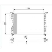 Radiador agua visconde fiat palio, siena, strada 1.0 99 > palio, siena, strada 1.3, 1.5 00 > palio, siena, strada 1.0, 1.3 8v/16v 00 > ori - 46417059 / 46449104 / 46548483 / 46746907