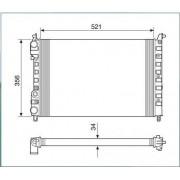 Radiador agua visconde fiat palio, siena, strada 1.6 16v 96 > ori - 46417050