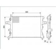 Radiador agua visconde gm astra 1.8, 2.0 99 > 09 vectra 2.0 8v / 2.4 16v 06 > 09 zafira 1.8, 2.0 00 > 09 ori - 09202506