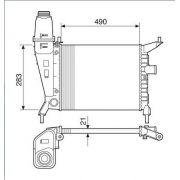 Radiador agua visconde gm celta 00 > 05 ( motor 1.0, 1.4 ) ori - 93260414