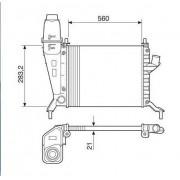 Radiador agua visconde gm celta 1.0, 1.4 00/05 ori - 93319449