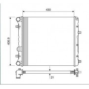 Radiador agua visconde vw fox, gol 1.0, 1.6 06 > polo 1.6, 2.0 06 > ori - 5zo121253c / 5zo121253f