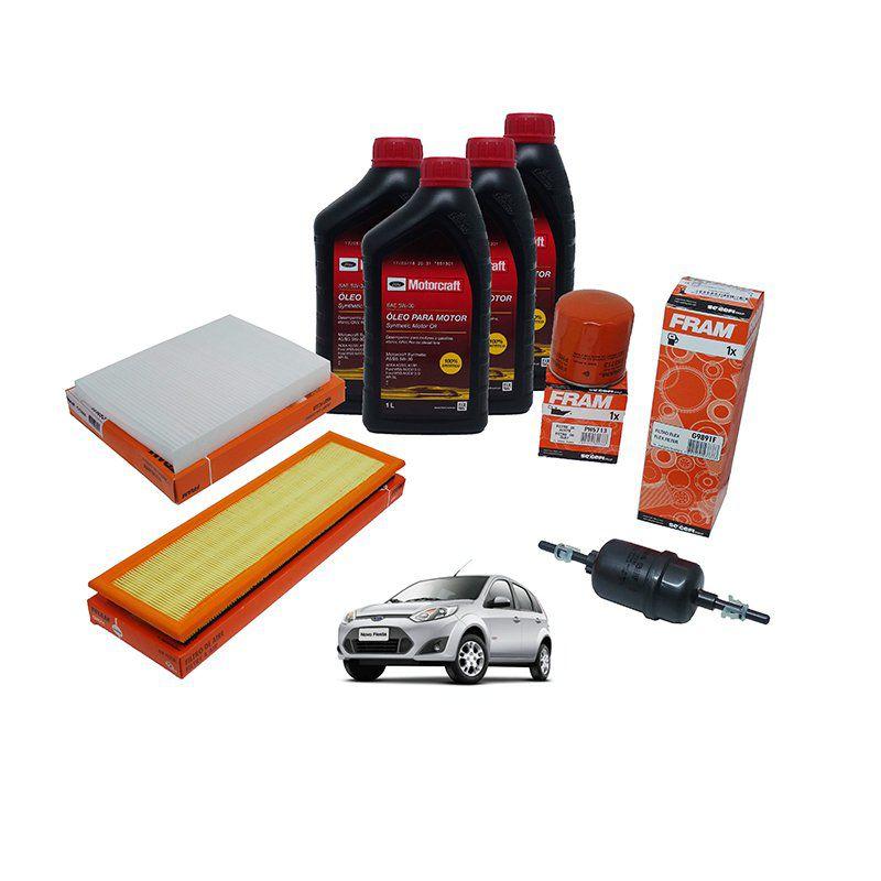 Filtro ar + Filtro combustivel + filtro oleo + filtro Cabine (ar condicionado) + Oleo (4 litros) Fiesta Ecosport