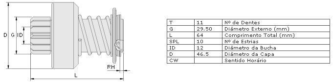 Impulsor partida zen fiat, lada uno, mille, elba 1.3, 1.5, fiat 147, oggi, premio, panorama tempra 2.0 16v, tipo 1.6, spazzio partida bosch