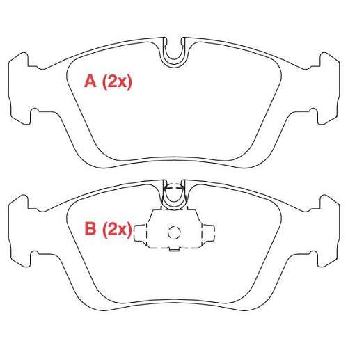 Pastilha freio dianteira asumi bmw 318 / 320 / 323 / 325 / 328 91 > 04 bmw z3 1.9 / 2.8 / 3.0 92 > 02 e36 / e46