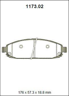 Pastilha freio dianteira asumi chrysler cherokee / grand cherokee 3.7 / 4.7 / 5.7 limited / laredo / overland hemi v8 05 > comander 5.7 limited 07 >