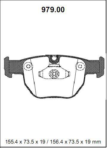 Pastilha freio dianteira asumi land rover range rover 4.4 v8 02 > 04