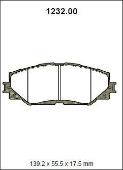Pastilha freio dianteira asumi toyota rav4 2.0 / 2.4 16v vvti 07 > prius v 12 >