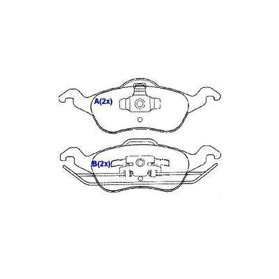 Pastilha freio dianteira cobreq ford focus 1.4, 1.6, 1.8, 2.0 98 > 08