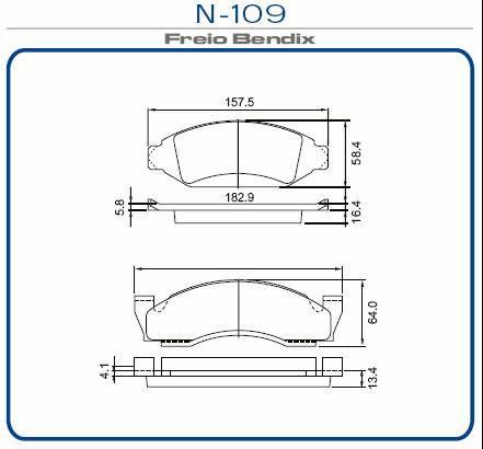 Pastilha freio dianteira cobreq ford, gm f100, f1000 79 > 84 f2000 80 > 85 c10 , c14, c15 79 > 85 a15, a20, c20, d10, d20 85 > 92 veraneio, bonanza 79 > 92 bonanza 90 > 94 a10, c10, d10, a20, c20, d20