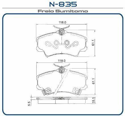 Pastilha freio dianteira cobreq honda civic 1.6 16v ex / lx 98 > 01 civic 1.7 16v ex/ lx 00 > 06 new civic 06 > 11
