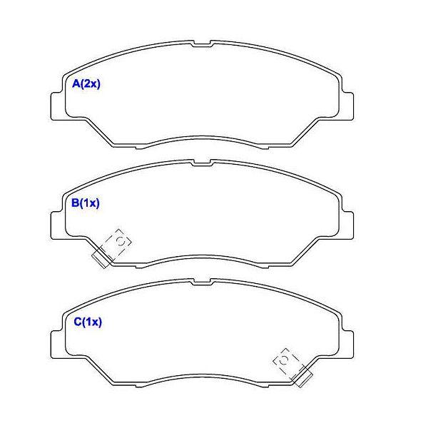 Pastilha freio dianteira cobreq kia sportage 2.0, 2.2 99 > 03