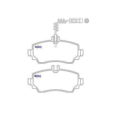 Pastilha freio dianteira cobreq mb classe a160 99 > 04 classe a190 00 > 04
