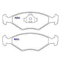 Pastilha freio dianteira cobreq vw, ford gol > 94  ( motor 2.0 ) santana, quantum 88 > 94 versailles, royale 91 > 94