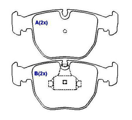 Pastilha freio dianteira syl bmw 525i / 530i / 535i / 540i 97 > 03 740i / 740il 94 > 00 x5 3.0, 4.4 00 > 07