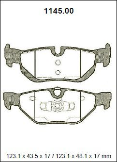 Pastilha freio traseira asumi bmw 120 / 130 / 318 / 320 / 325 / 330 04 > e87 / e90 / e91