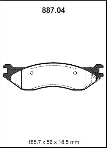 Pastilha freio traseira asumi ford, chrysler dodge ram 1500 02 > 05 ford f250 ( importada ) 97 >