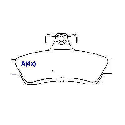 Pastilha freio traseira asumi gm omega australiano 3.6 / 3.8 99/05