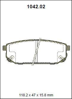 Pastilha freio traseira asumi kia sorento 2.4 / 2.5 / 3.5 / 3.8 ex v6 24v 02 >