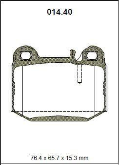 Pastilha freio traseira asumi mercedes ml270 cdi / ml320 / ml350 / ml400 / ml430 / ml500 / ml 55 amg / w163 98/05