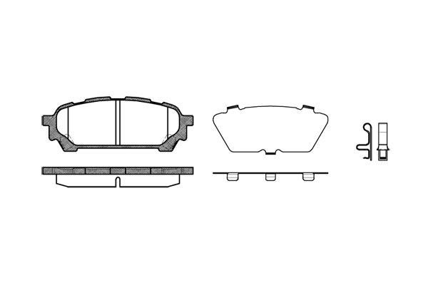 Pastilha freio traseira asumi subaru forester 2.0 / 2.5 / turbo 02 > 07 impreza 2.0 wrx / turbo 01 > 06