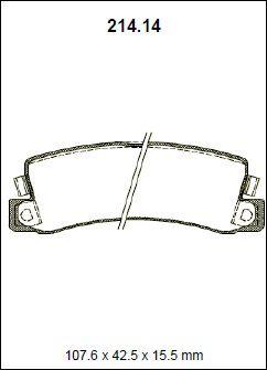 Pastilha freio traseira asumi toyota corolla 2.0 16v 94 > 99 corona 2.0 92 > camry 3.0 v6 24v 92 > 96