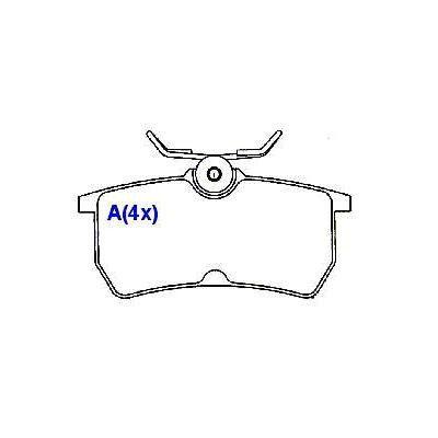 Pastilha freio traseira cobreq ford focus 98 > 08 ( motor 1.4, 1.6, 1.8, 2.0 )