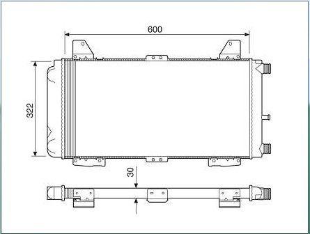 Radiador agua visconde ford escort 1.6 cht 87 > 89 ori - 86au8005a