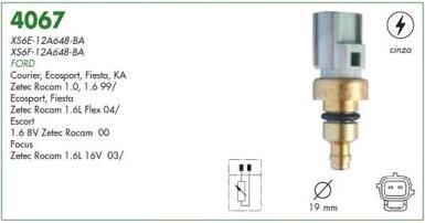 Sensor temperatura cinza (plug eletronico) mte ford zetec rocam 99 > fiesta, courier, ka