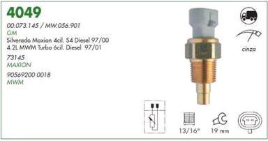 Sensor temperatura painel duplex mte gm silverado maxion diesel