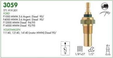 Sensor temperatura painel mte ford, vw f1000 mwm 90 > caminhao 11140, 21140, 14140 90 < mwm orig. t71919501