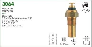 Sensor temperatura painel mte gm s10, silverado diesel