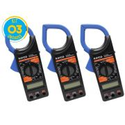 Alicate Amperímetro Digital 1000V Rayco - Kit 3 unidades