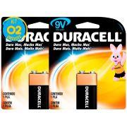 Bateria Alcalina Duracell 9V Original Kit ( 2 Unidades )