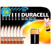 Bateria Alcalina Duracell 9V Original Kit ( 8 Unidades )
