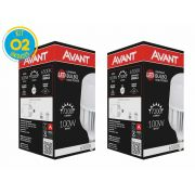 Kit 02 Lâmpadas Led 100w E40 Alta Potência Luz Branca Avant