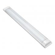 Kit 02 Luminárias Lineares Led Sobrepor 60cm 18w Luz Fria Asus