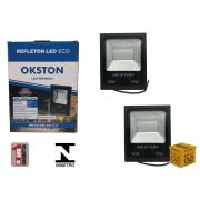 Kit 02 Refletor Led 50W Holofote Luz Branca a Prova D'água Okston