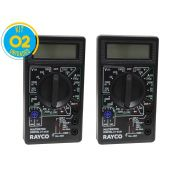 Kit 02 Unidades Multímetro Digital Dt-830B Rayco
