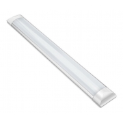 Kit 03 Luminárias Lineares Led Sobrepor 60cm 18w Luz Fria Asus