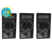 Kit 03 Unidades Multímetro Digital Dt-830B Rayco