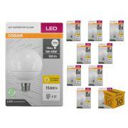Kit 10 Lâmpada Led Globo 10w 900 lumens Luz Amarela 3000K Osram