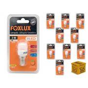 Kit 10 Lâmpada Led Para Geladeira 3w 127V 180 Lumens Foxlux