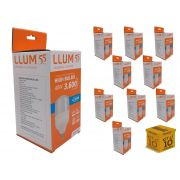 Kit 10 lampadas led 40w alta potencia llum bronzeart