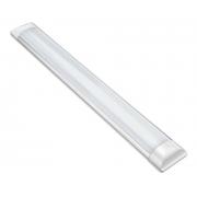 Kit 10 Luminárias Lineares Led Sobrepor 120cm 36w Luz Fria Asus