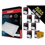 Kit 10 Painel Plafon Led 18W Emb. Quadrado Luz Branca Avant